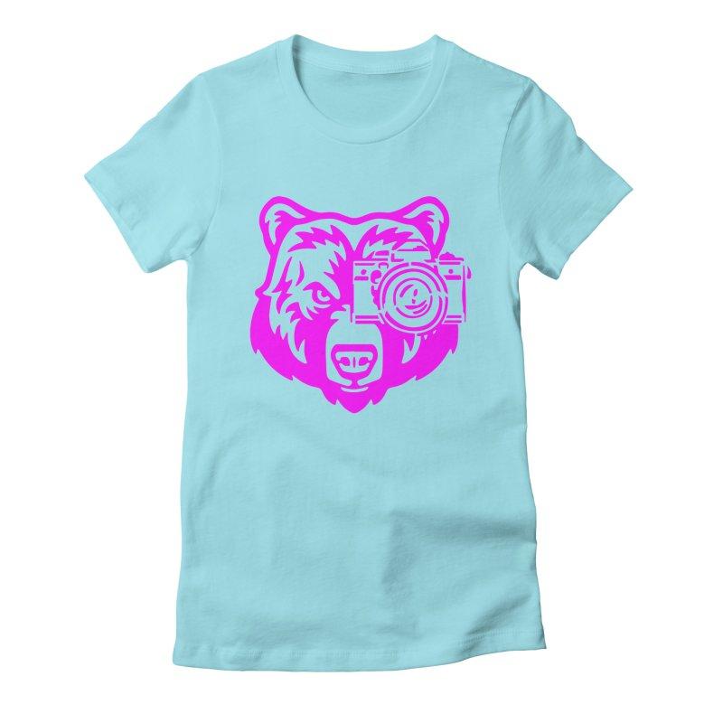 Pink Bear Big Women's Fitted T-Shirt by jpaullphoto's Artist Shop
