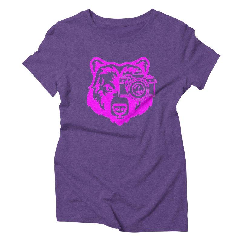 Pink Bear Big Women's Triblend T-Shirt by jpaullphoto's Artist Shop
