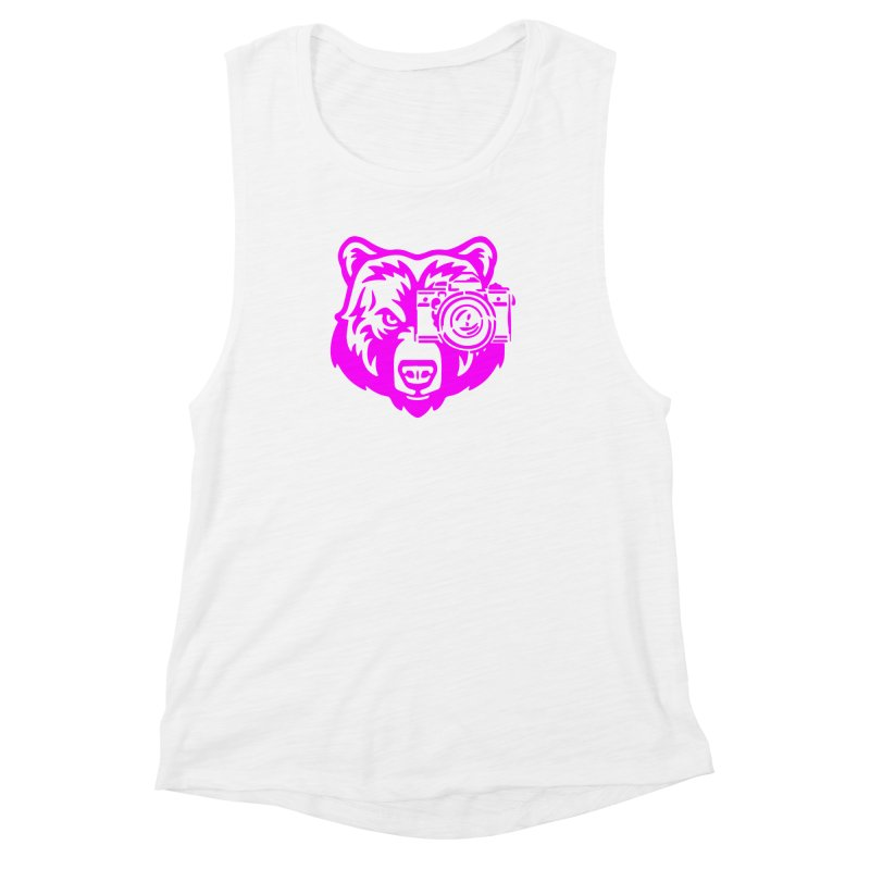 Pink Bear Big Women's Muscle Tank by jpaullphoto's Artist Shop