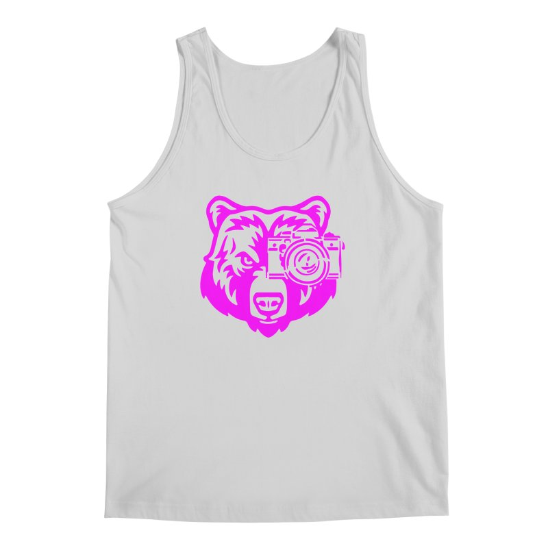 Pink Bear Big Men's Regular Tank by jpaullphoto's Artist Shop