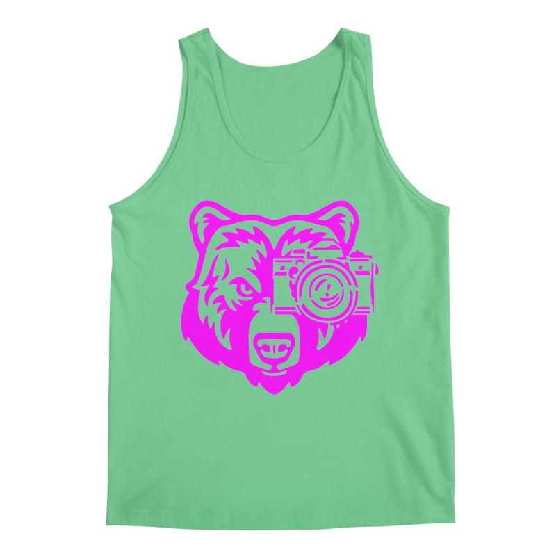 Pink Bear Big Men's Regular Tank by jpaullphoto's Artist Shop