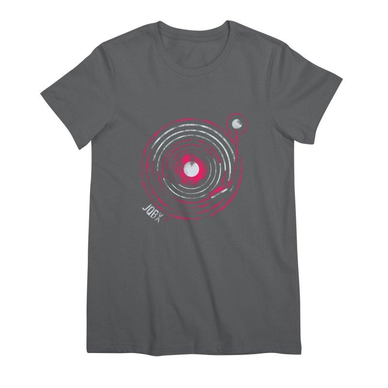 JQBX record logo Women's Premium T-Shirt by JQBX Store - Listen Together