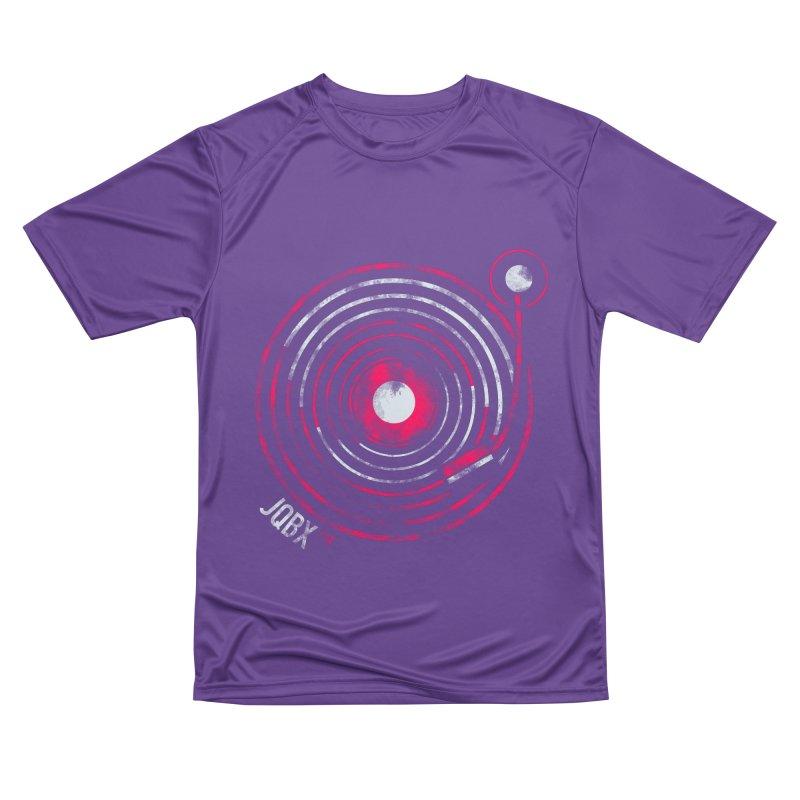 JQBX record logo Women's Performance Unisex T-Shirt by JQBX Store - Listen Together