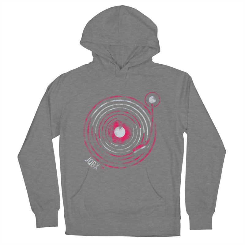 JQBX record logo Men's French Terry Pullover Hoody by JQBX Store - Listen Together