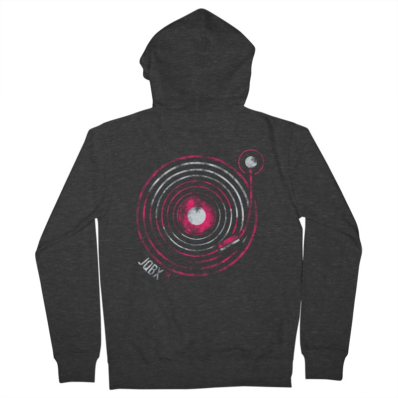 JQBX record logo Women's French Terry Zip-Up Hoody by JQBX Store - Listen Together