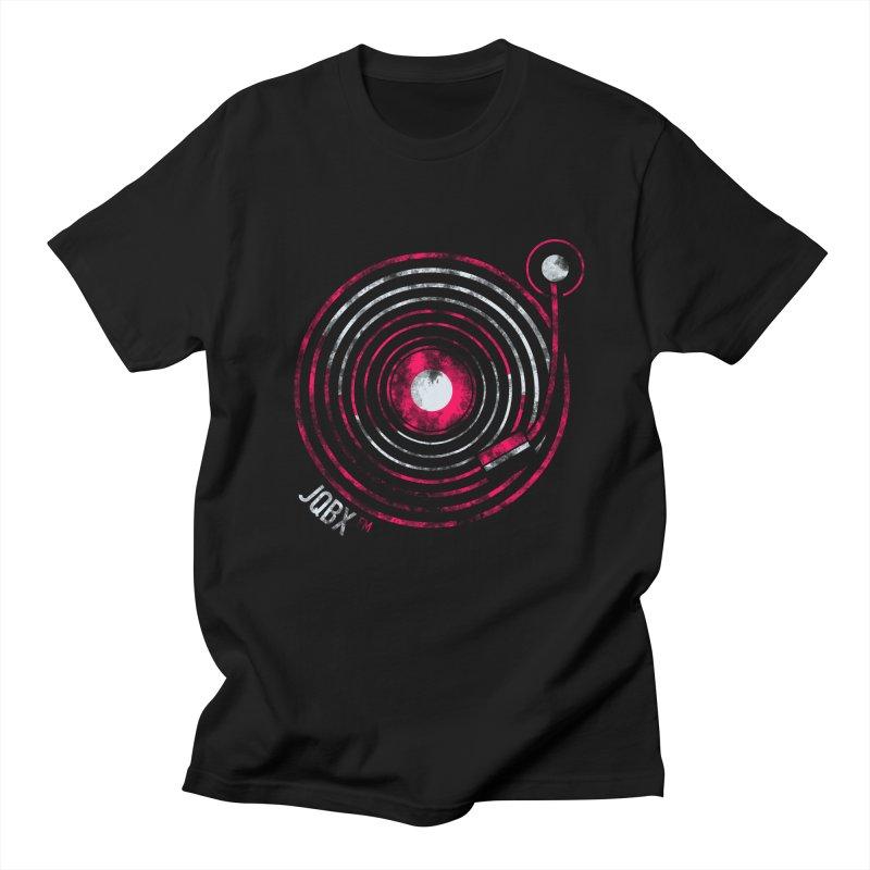 JQBX record logo Men's Regular T-Shirt by JQBX Store - Listen Together