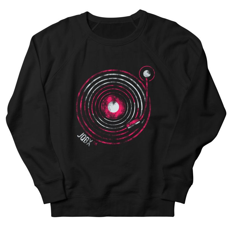 JQBX record logo Men's French Terry Sweatshirt by JQBX Store - Listen Together