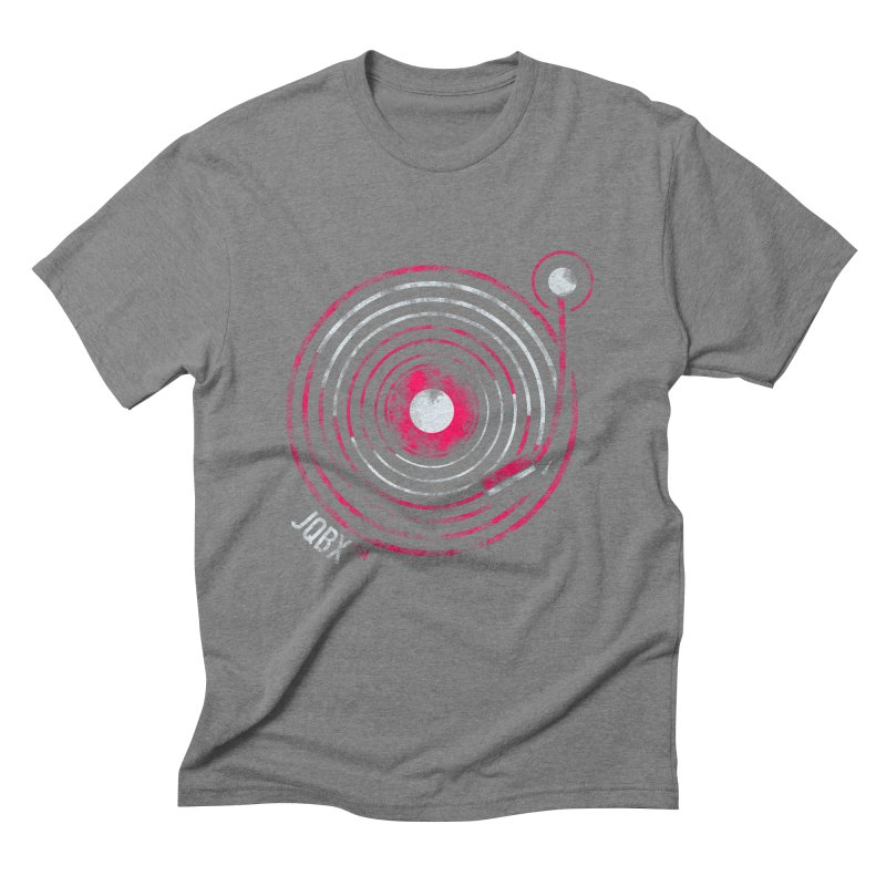 JQBX record logo Men's Triblend T-Shirt by JQBX Store - Listen Together