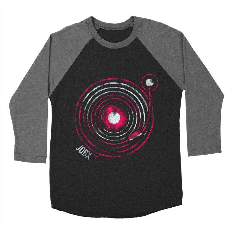 JQBX record logo Women's Baseball Triblend Longsleeve T-Shirt by JQBX Store - Listen Together