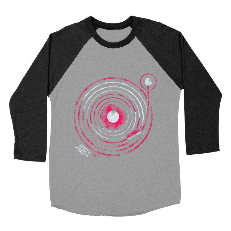JQBX record logo Men's Baseball Triblend Longsleeve T-Shirt by JQBX Store - Listen Together