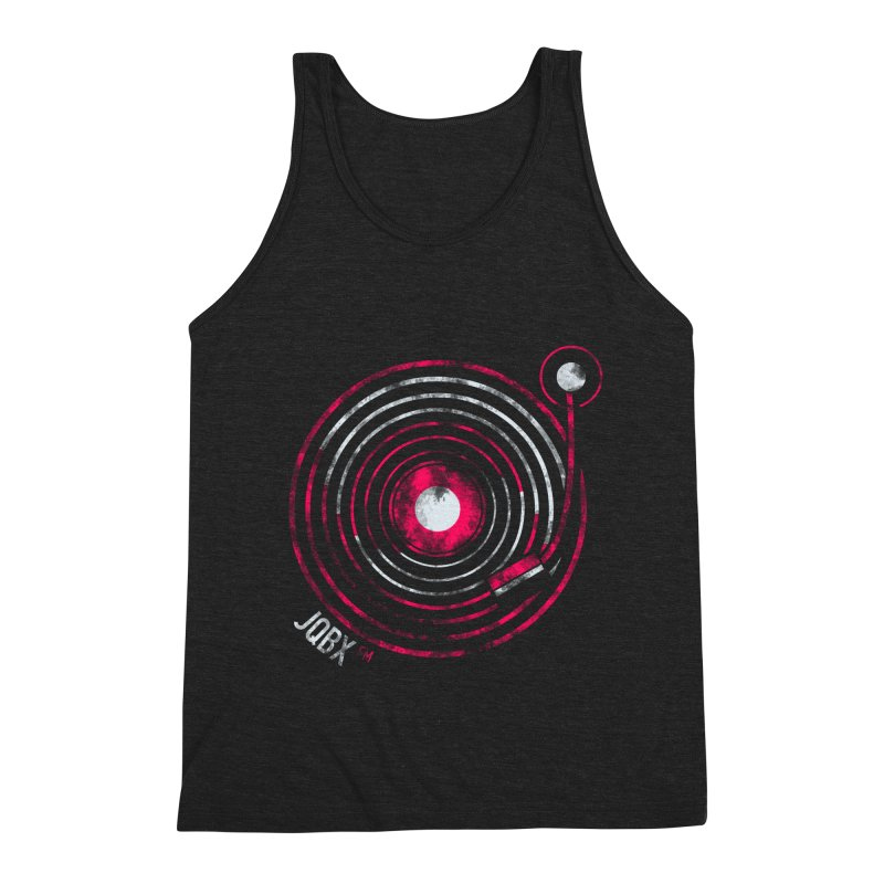 JQBX record logo Men's Triblend Tank by JQBX Store - Listen Together