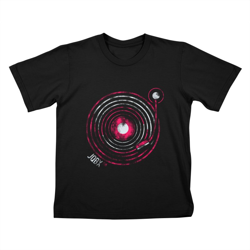 JQBX record logo Kids T-Shirt by JQBX Store - Listen Together