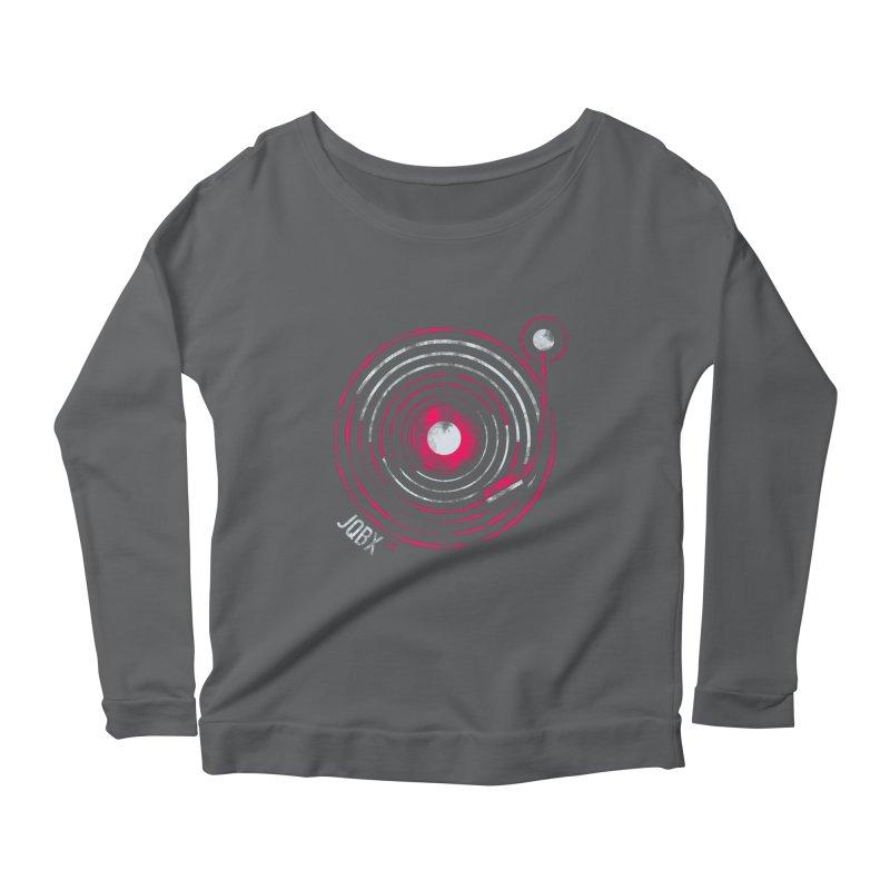 JQBX record logo Women's Scoop Neck Longsleeve T-Shirt by JQBX Store - Listen Together