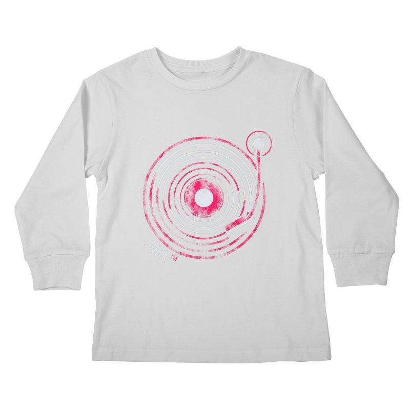 JQBX record logo Kids Longsleeve T-Shirt by JQBX Store - Listen Together