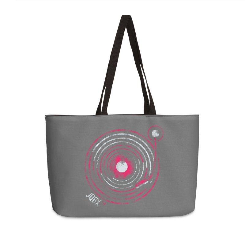 JQBX record logo Accessories Weekender Bag Bag by JQBX Store - Listen Together