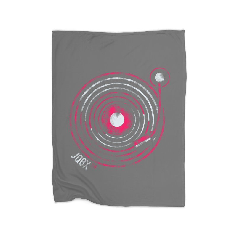 JQBX record logo Home Fleece Blanket Blanket by JQBX Store - Listen Together