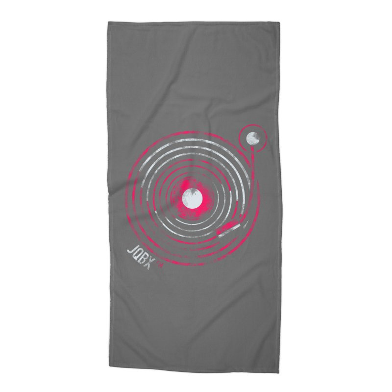JQBX record logo Accessories Beach Towel by JQBX Store - Listen Together