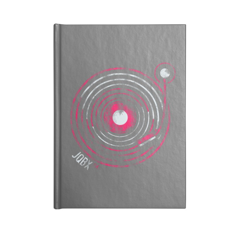 JQBX record logo Accessories Blank Journal Notebook by JQBX Store - Listen Together