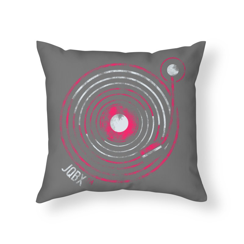 JQBX record logo Home Throw Pillow by JQBX Store - Listen Together