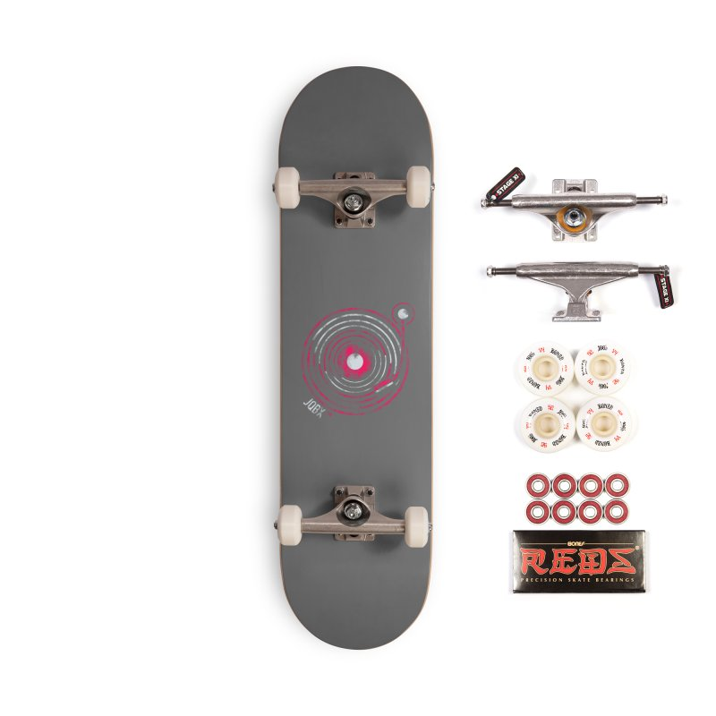 JQBX record logo Accessories Complete - Pro Skateboard by JQBX Store - Listen Together