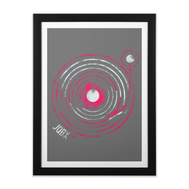 JQBX record logo Home Framed Fine Art Print by JQBX Store - Listen Together