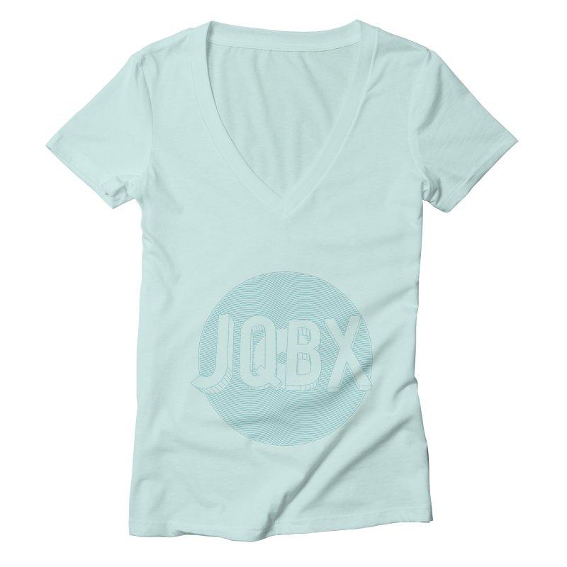 JQBX traced Women's Deep V-Neck V-Neck by JQBX Store - Listen Together