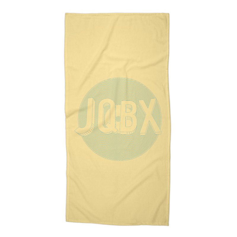 JQBX traced Accessories Beach Towel by JQBX Store - Listen Together