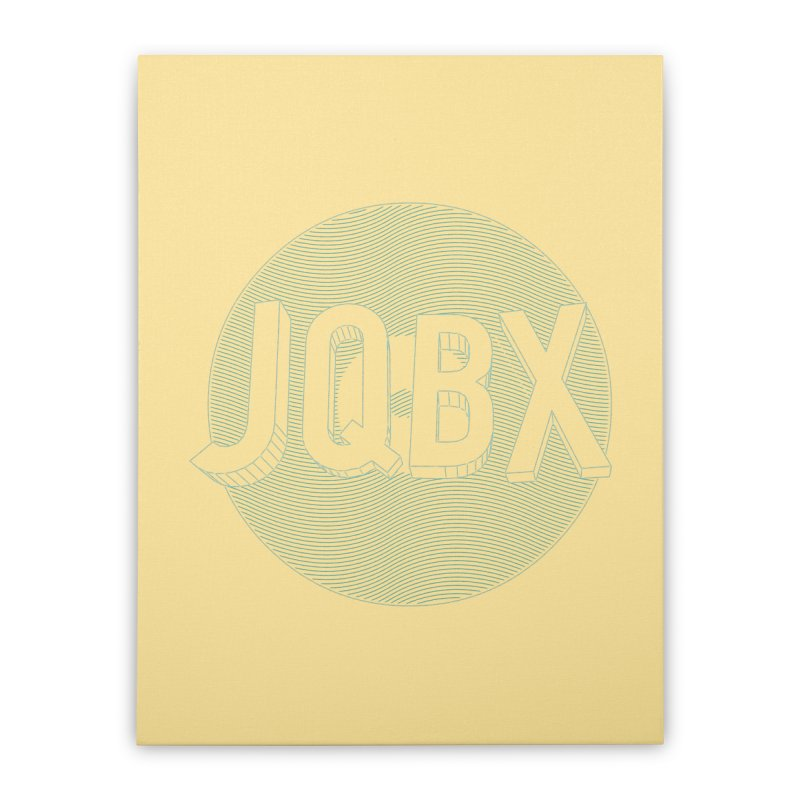 JQBX traced Home Stretched Canvas by JQBX Store - Listen Together