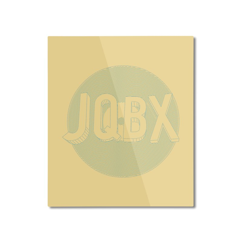 JQBX traced Home Mounted Aluminum Print by JQBX Store - Listen Together
