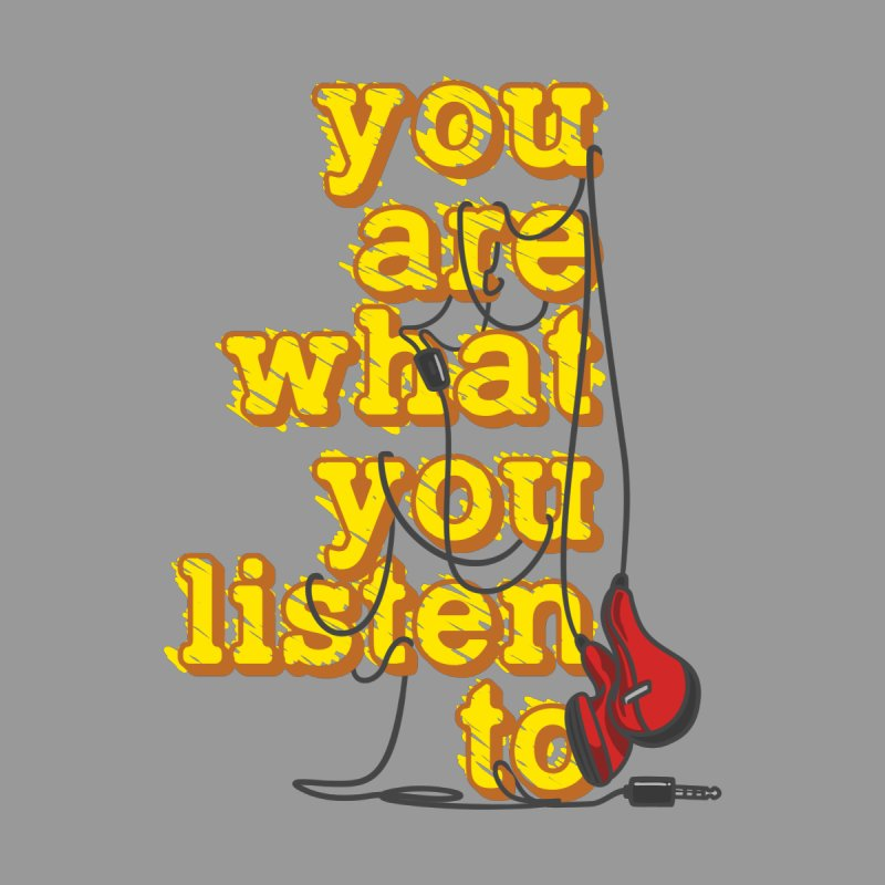 You are what you listen to Home Shower Curtain by JQBX Store - Listen Together