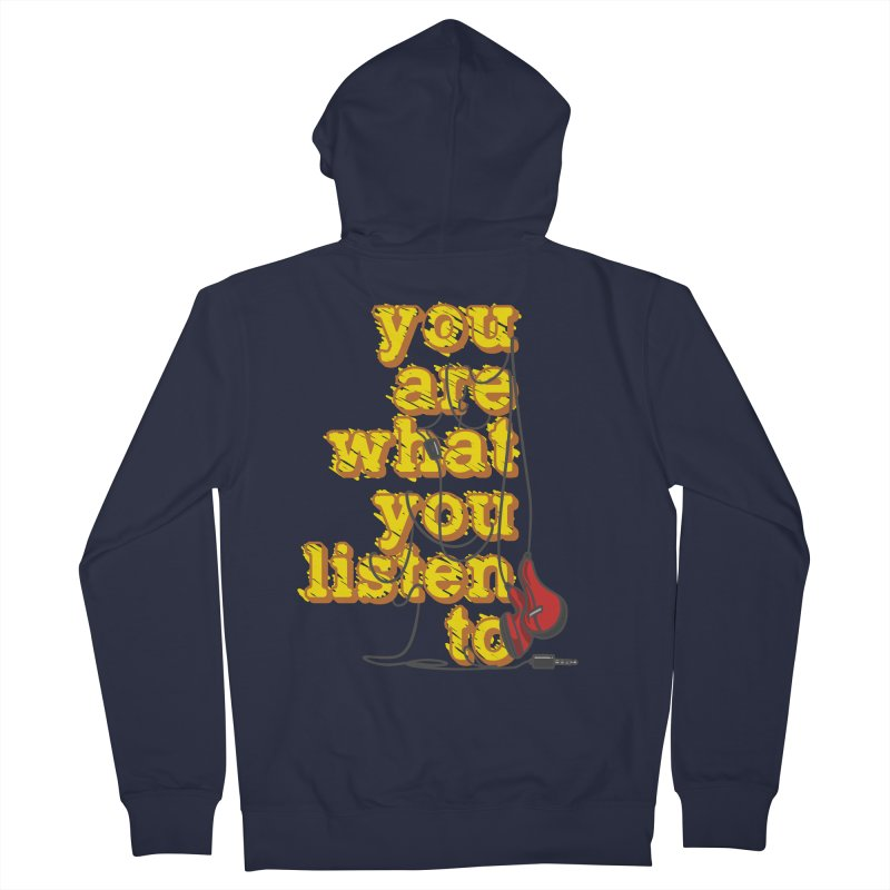 You are what you listen to Women's French Terry Zip-Up Hoody by JQBX Store - Listen Together