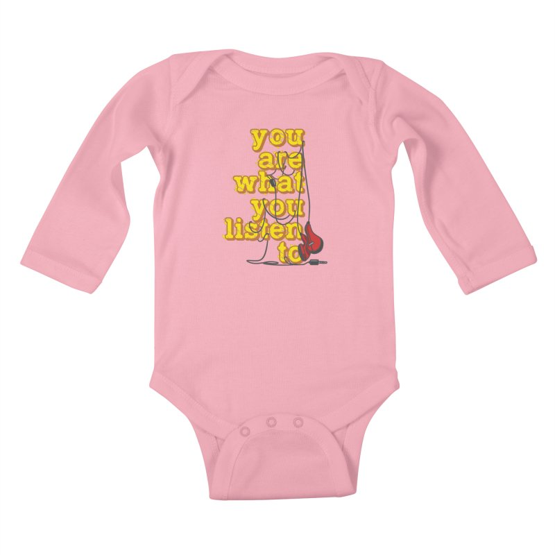 You are what you listen to Kids Baby Longsleeve Bodysuit by JQBX Store - Listen Together