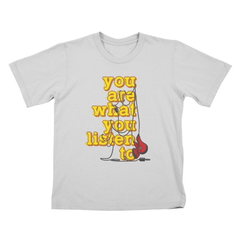 You are what you listen to Kids T-Shirt by JQBX Store - Listen Together