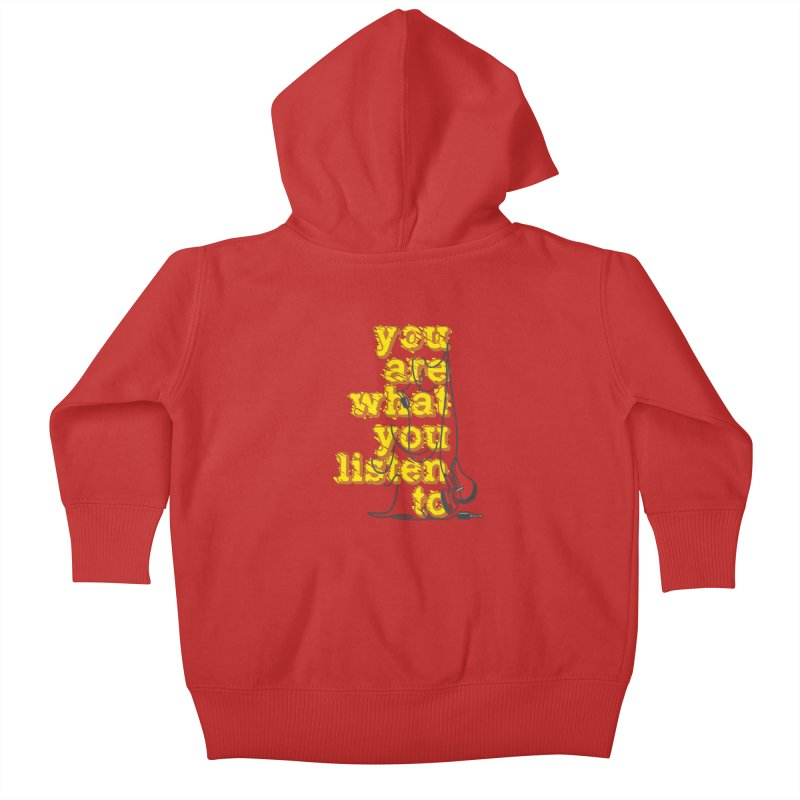 You are what you listen to Kids Baby Zip-Up Hoody by JQBX Store - Listen Together