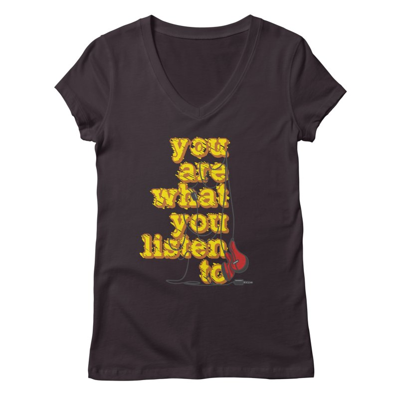 You are what you listen to Women's Regular V-Neck by JQBX Store - Listen Together