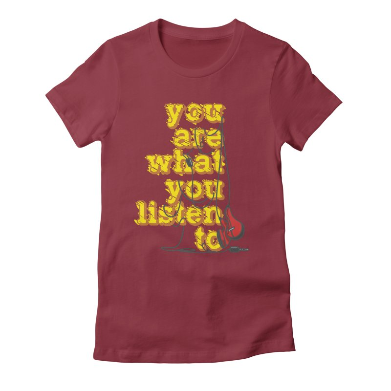 You are what you listen to Women's Fitted T-Shirt by JQBX Store - Listen Together