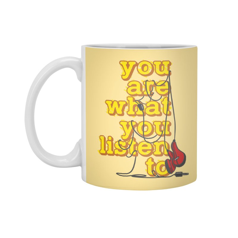 You are what you listen to Accessories Standard Mug by JQBX Store - Listen Together