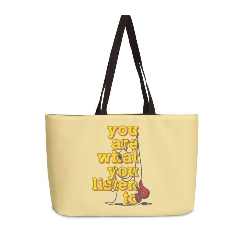 You are what you listen to Accessories Weekender Bag Bag by JQBX Store - Listen Together