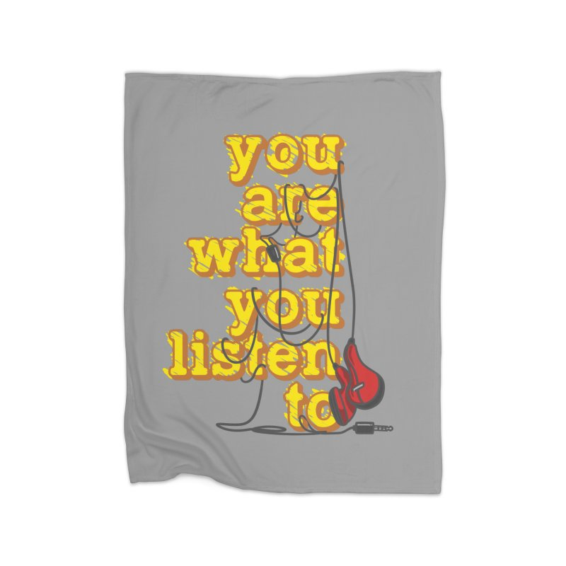 You are what you listen to Home Blanket by JQBX Store - Listen Together