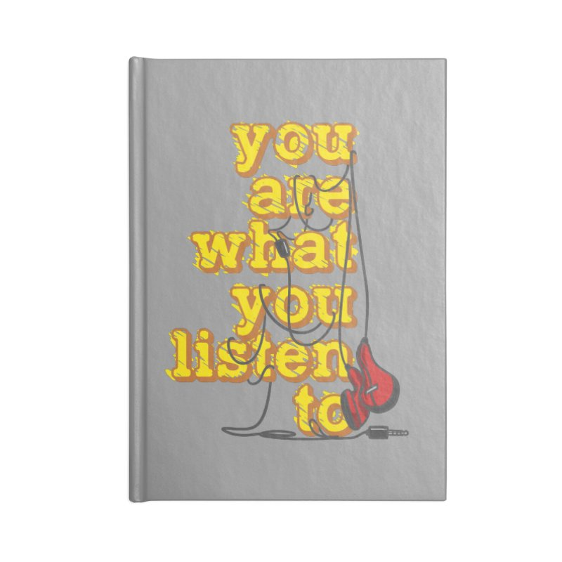 You are what you listen to Accessories Notebook by JQBX Store - Listen Together