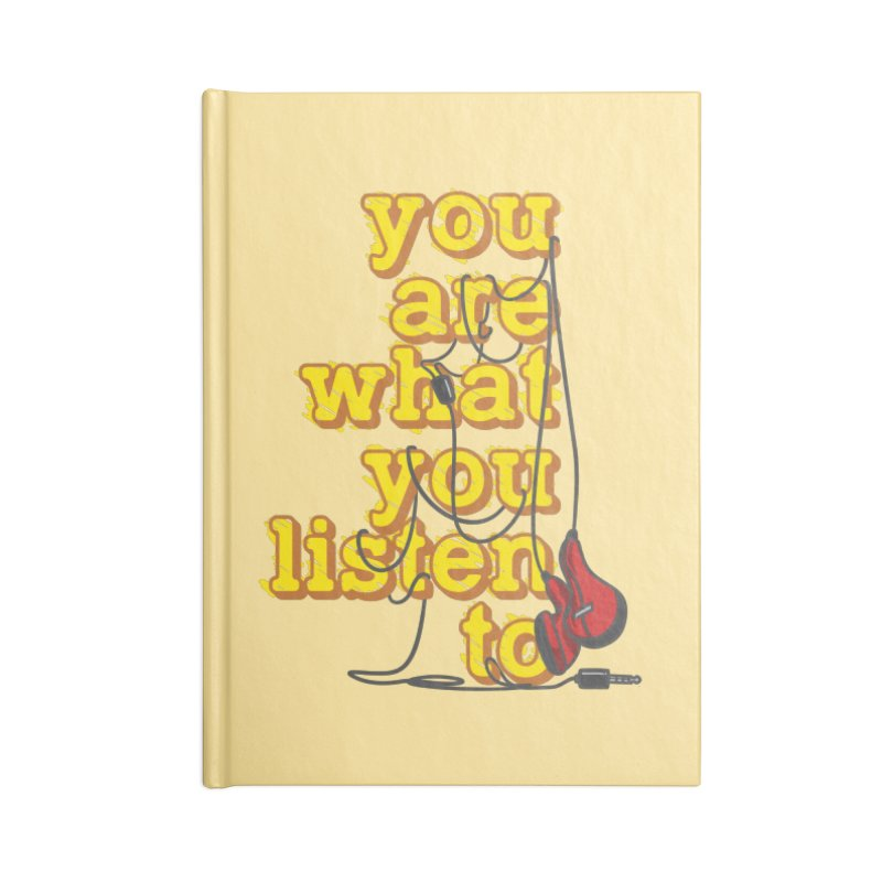 You are what you listen to Accessories Lined Journal Notebook by JQBX Store - Listen Together