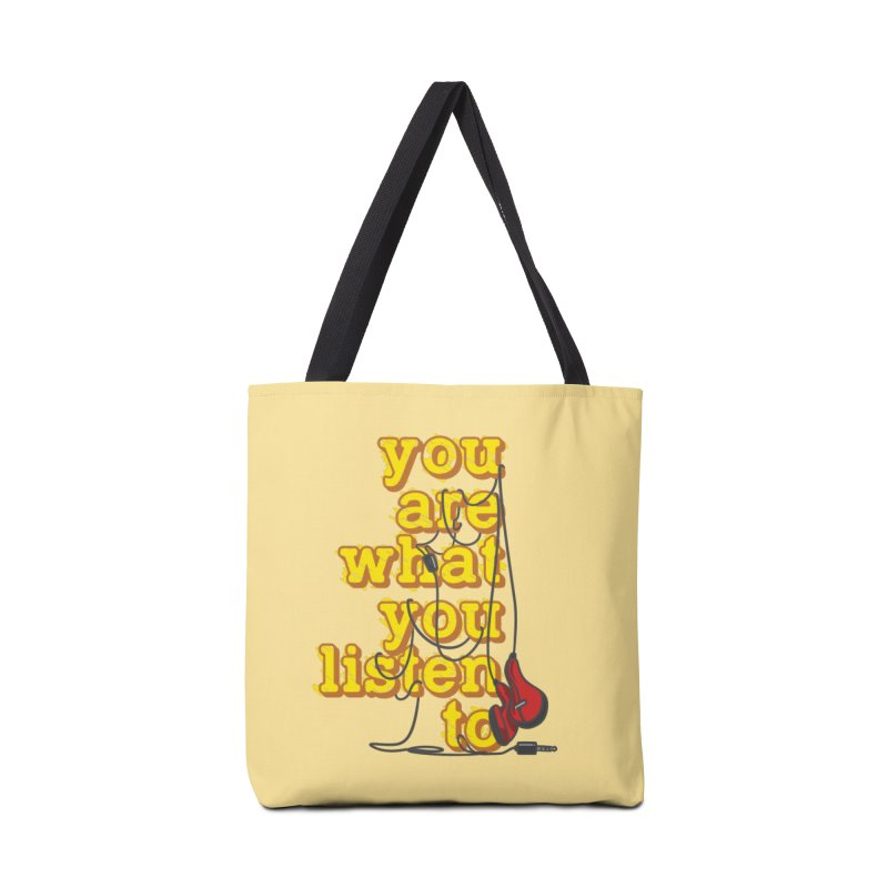 You are what you listen to Accessories Tote Bag Bag by JQBX Store - Listen Together