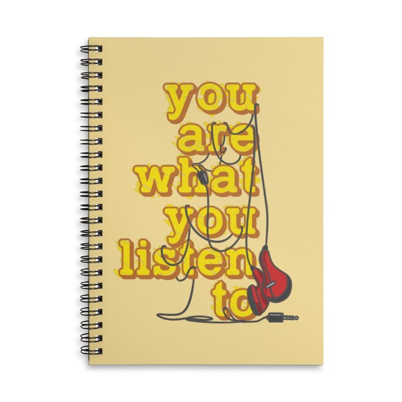 You are what you listen to Accessories Lined Spiral Notebook by JQBX Store - Listen Together