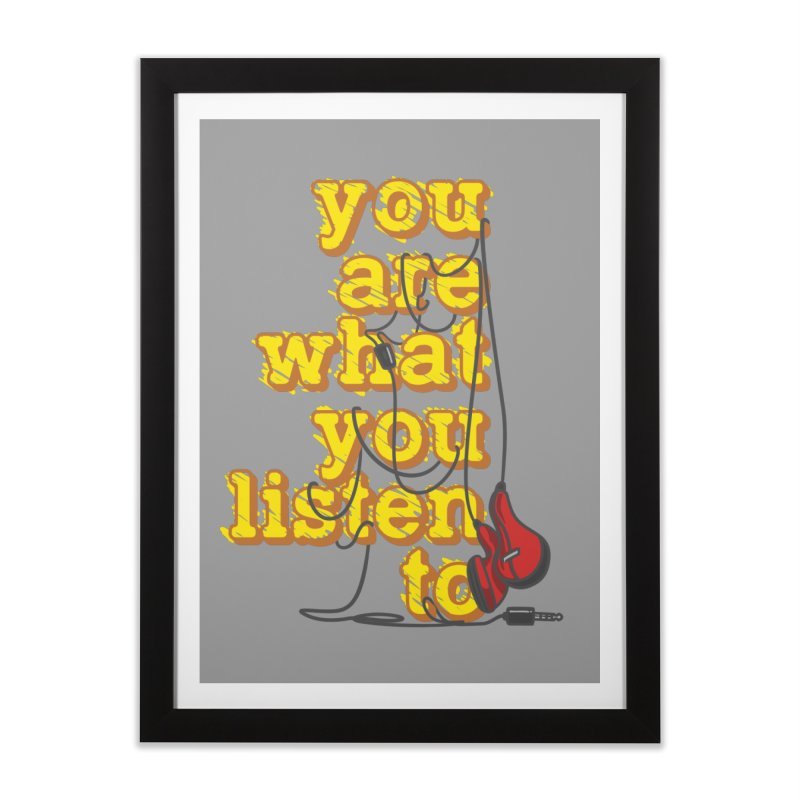 You are what you listen to Home Framed Fine Art Print by JQBX Store - Listen Together