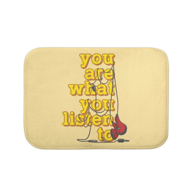 You are what you listen to Home Bath Mat by JQBX Store - Listen Together
