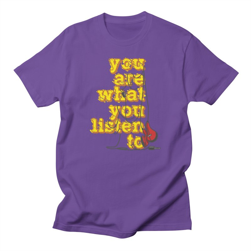 You are what you listen to Men's T-Shirt by JQBX Store - Listen Together