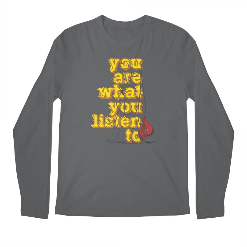 You are what you listen to Men's Longsleeve T-Shirt by JQBX Store - Listen Together
