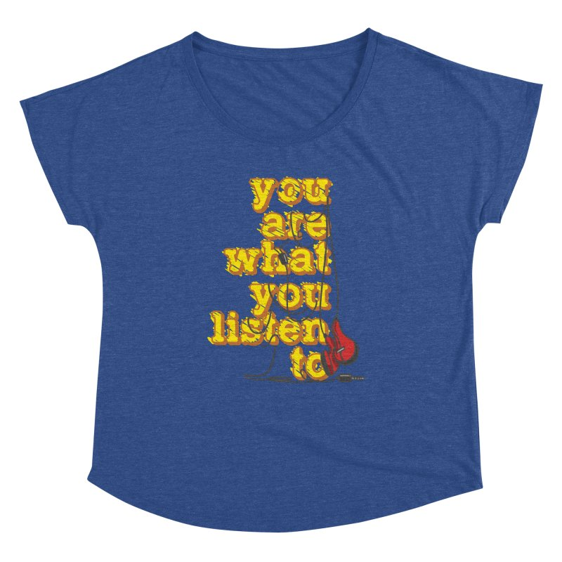 You are what you listen to Women's Scoop Neck by JQBX Store - Listen Together