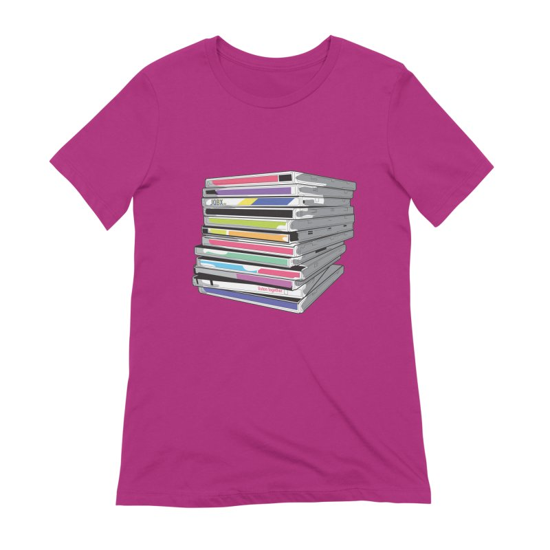 Cd Collection JQBX Women's Extra Soft T-Shirt by JQBX Store - Listen Together