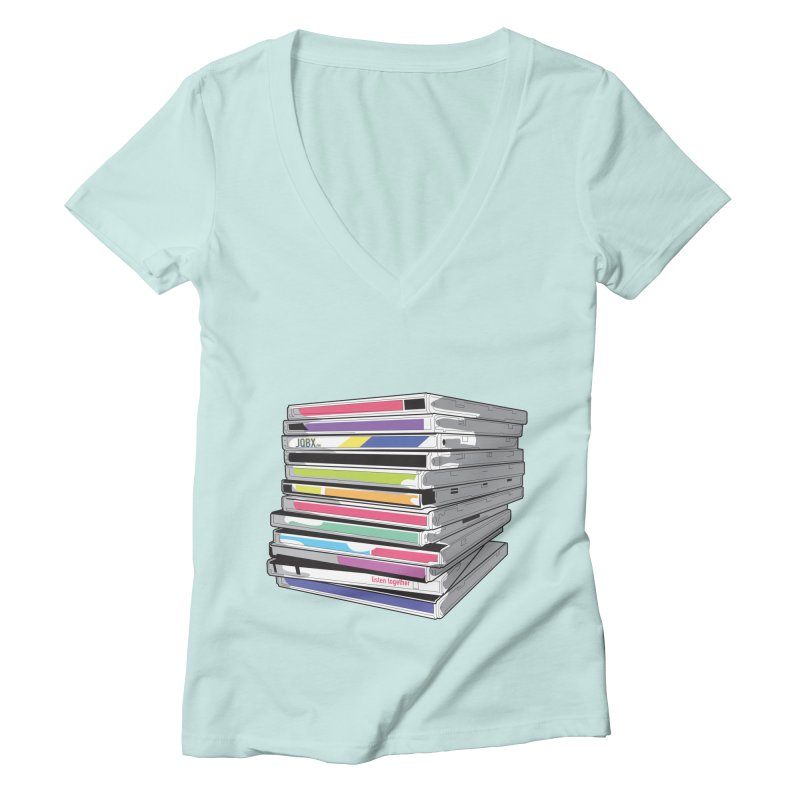 Cd Collection JQBX Women's Deep V-Neck V-Neck by JQBX Store - Listen Together